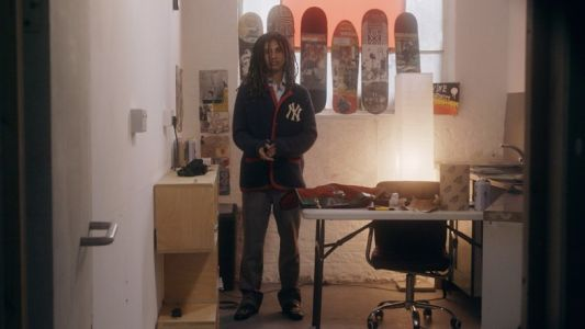Meet the young artist and model combining collaging with skateboarding
