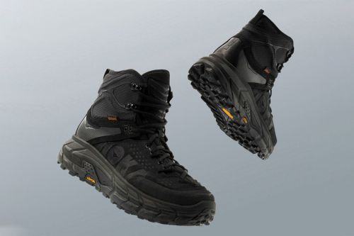 "HOKA ONE ONE's Tor Ultra Hi Wp Boot Returns in ""Triple Black"" for the Holidays"