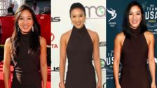 Michelle Kwan Wears The Same Dress To Three Events, Lands A Triple