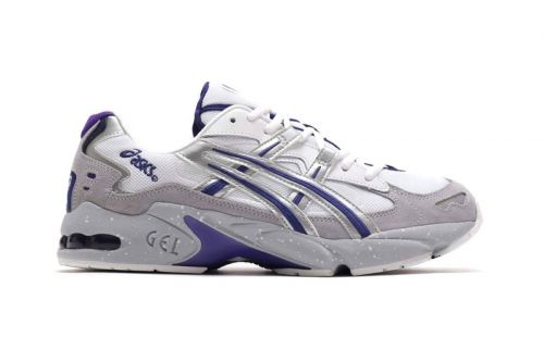 """ASICS GEL-KAYANO 5 OG """"Gray"""" Gets Accented With Bold Hits of Purple"""
