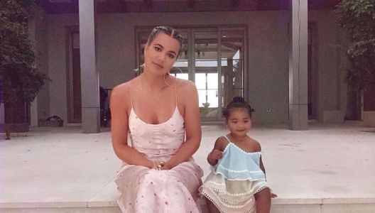 Khloé Kardashian and True Thompson's Silk Dress and Yeezys Photo Shoot Is Something to Behold: 'My Little Lady'