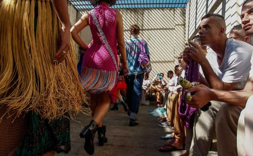 Inmates show off crochet creations in Brazil prison fashion show