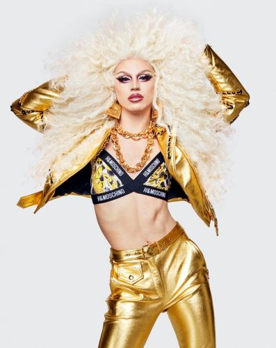 The full Moschino x H&M collab is here - featuring drag superstar Aquaria