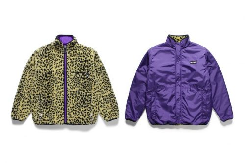 WACKO MARIA Drops Three Reversible Leopard Print Fleece Jackets