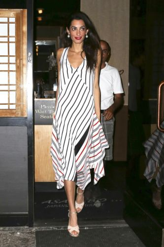 Amal Clooney Steps Out in Tome for Date NightPhoto