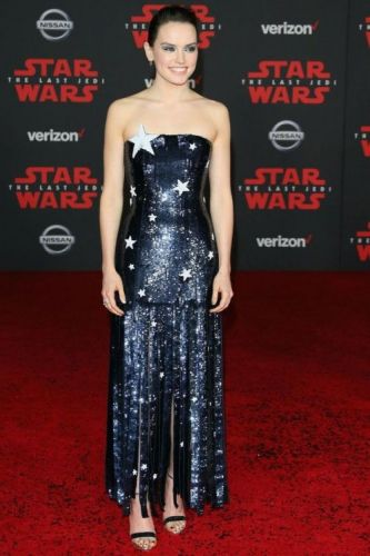 Daisy Ridley Sparkled In Monse at the 'Star Wars' Premiere See