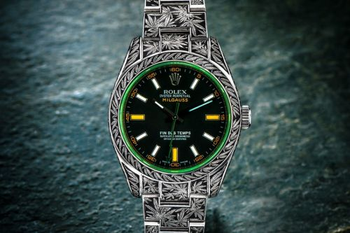 """Rolex Oyster Perpetual Milgauss """"Cannabis"""" by Third Eye Assembly"""