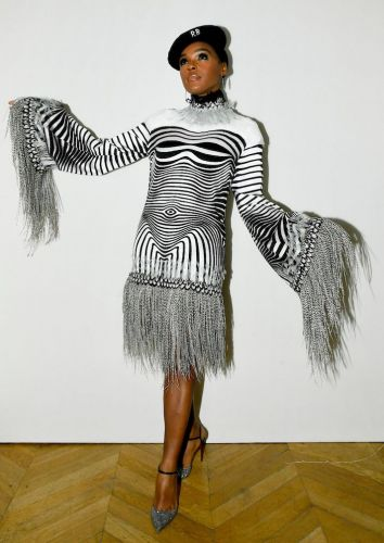 Janelle Monae Looked Like a Seriously Hot Optical Illusion at the Harper's Bazaar PFW Gala
