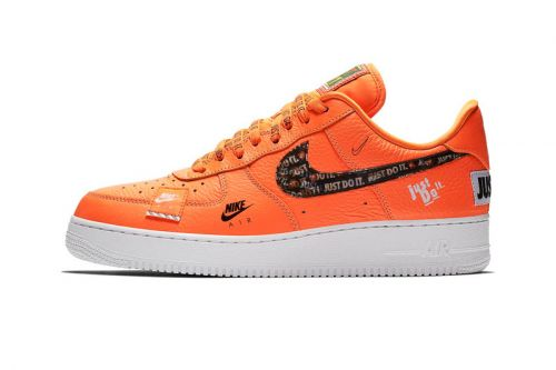 """Official Photos of Nike Air Force 1 """"Just Do It"""" in Orange"""