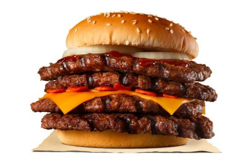 "Burger King Japan Says the Strong Magma Super One Pound Beef Burger Is the ""Spiciest Meat Wall"""