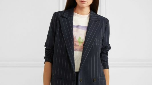 Maria Wants This Pinstriped Suit for Flexin' Purposes Only
