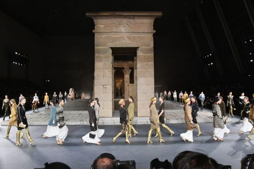 'Only Karl can do this': Lagerfeld blends Egypt and Manhattan for Chanel