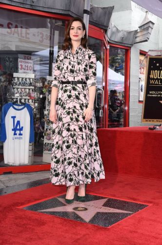 Anne Hathaway Just Got a Star on the Hollywood Walk of Fame, and the Dress She Wore Was Gorgeous