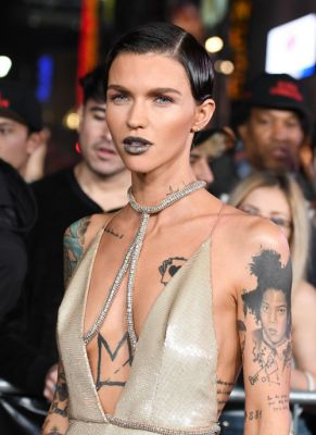 Ruby Rose Gives Her Lips a Grey Gilded GlowThe face of Urban