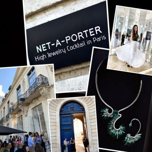 Net-à-Porter High Jewelry Cocktail in Paris