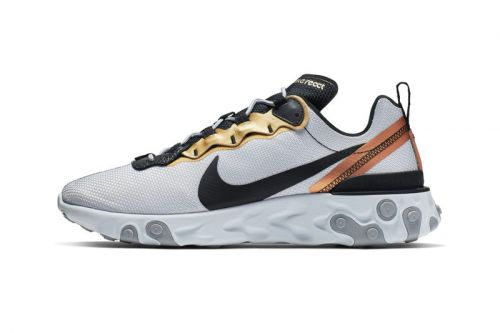 """Nike's React Element 55 Gets Deck out in """"Metallic Gold"""" Accents"""