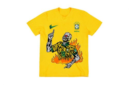 Warren Lotas Celebrates 2018 FIFA World Cup With Brazil Neymar T-Shirt