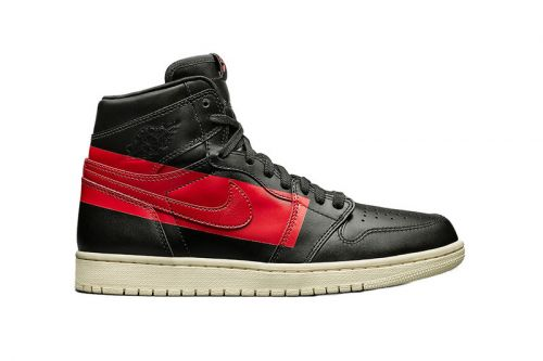 "Air Jordan 1 ""Couture"" Flexes Big Red Stripes for an Abstract Look"