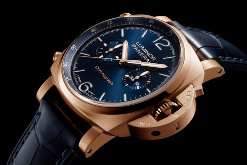 Meet the Panerai Luminor Chrono Goldtech Blu Notte