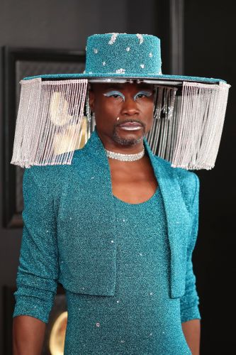Billy Porter Looks Stunning in a Sparkly Turquoise Romper at the 2020 Grammys