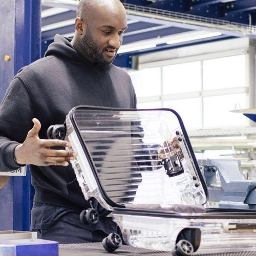 Virgil Abloh designed a totally transparent suitcase