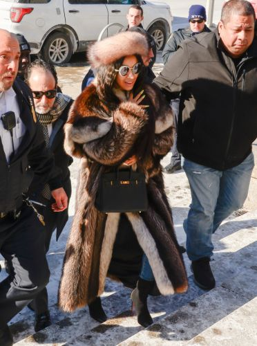 Cardi B's Fur Outfit Is the Biggest Winter Mood of All Time