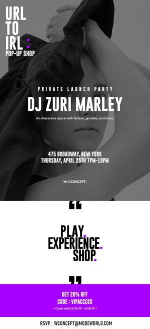 URL to IRL Private Launch Party w/ DJ Zuri Marley, April 25th 475 Broadway