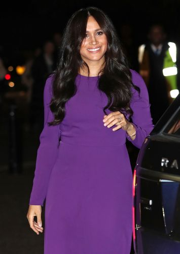 Duchess Meghan Markle Stuns in Purple Dress While Making First Appearance After Emotional Documentary