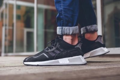 An On-Feet Look at the adidas EQT Cushion ADV in 'Core Black'