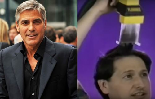 Does George Clooney really cut his hair with an infomercial vacuum?