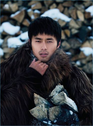 Winter Wild: Zhao Lei Braves the Cold for GQ China