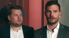James Corden Invites Jamie Dornan Into His 'Fifty Shades'-Style Playroom