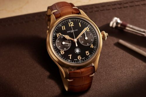 Montblanc Crafts a Limited Edition 1858 Monopusher Chronograph in Bronze