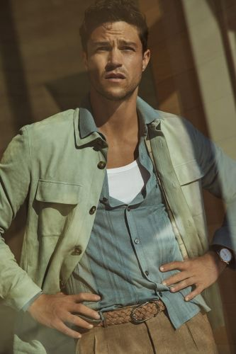 Miles McMillan Sports Chic Neutrals for Robb Report