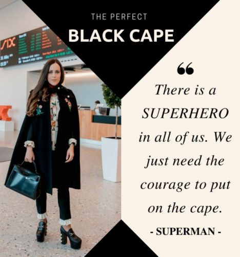 The Perfect Black Cape
