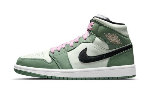 "Hints of Pink Mark the Air Jordan 1 Mid ""Dutch Green"""