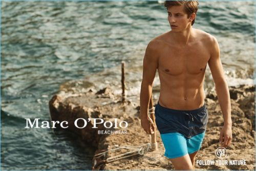 Benjamin Benedek Hits the Beach for Marc O'Polo Summer 2018 Campaign