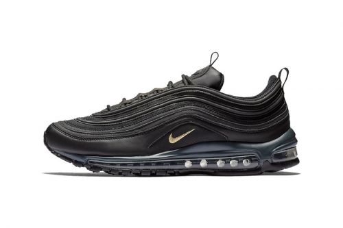 Nike Air Max 97 Gets Dipped in Black With a Touch of Gold