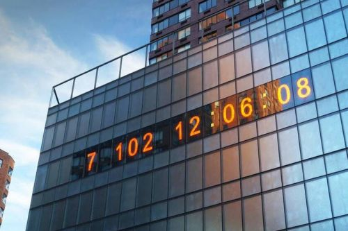 Artists Transform Famed NYC Metronome Into a Countdown Clock to Climate Disaster