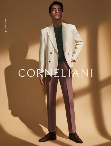 Anatol Embraces Sartorial Style for Corneliani Spring Campaign