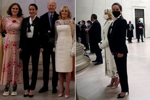 Joe Biden's daughter Ashley turns heads in tux on inauguration night