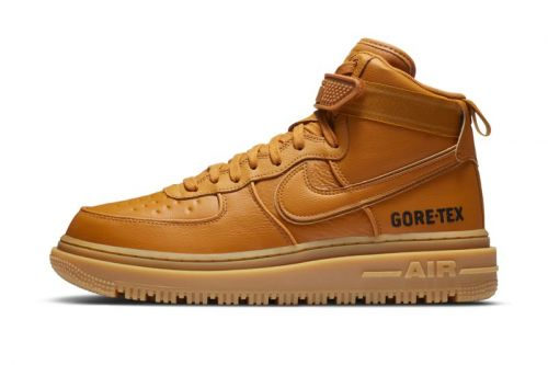 """Nike's Air Force 1 Boot GORE-TEX Receives Toasty """"Wheat"""" and Dark """"Olive"""" Colorways"""