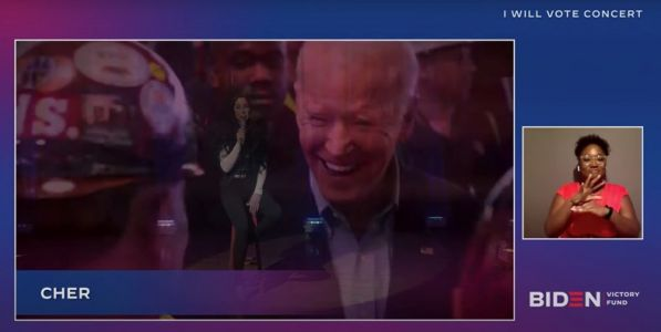 Watch Cher sing 'Happiness Is a Thing Called Joe' in support of Biden