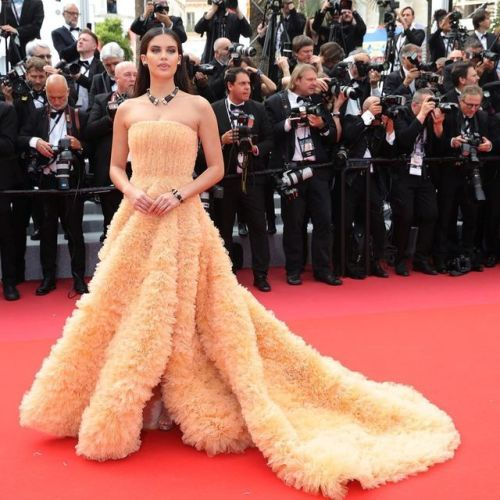Sara Sampaio killing it on the red carpet at the 72nd Cannes