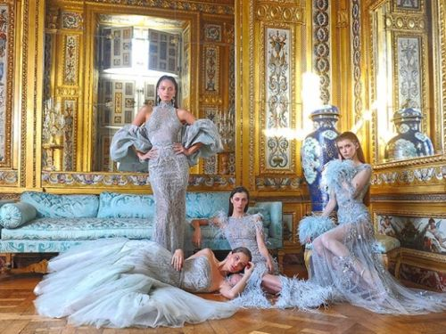 """Haute Couture Digital Paris Fashion Week Spring Summer 2021 Ziad Nakad Collection Couture """"Birds Of Love"""""""