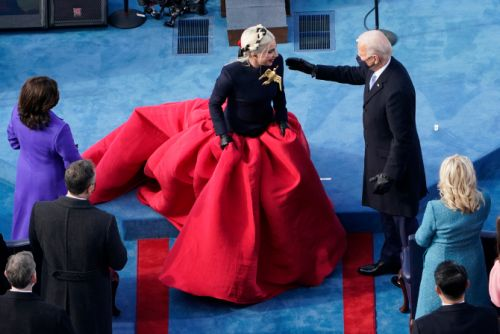 Lady Gaga Looks Straight Out of 'Hunger Games' at the Inauguration