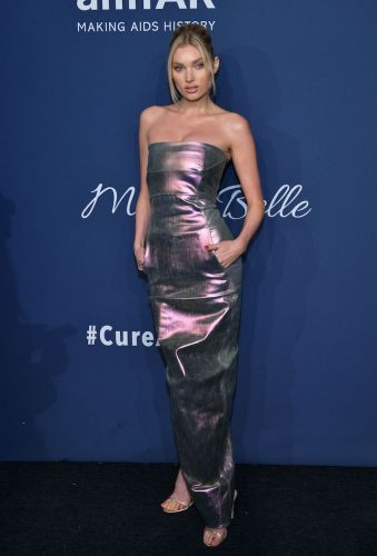 Elsa Hosk Looks Like a Metallic Mermaid In This Stunning Maxi Dress