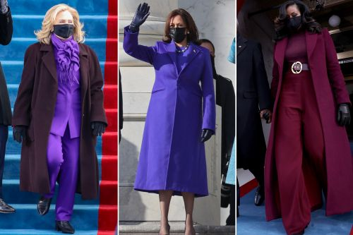 Why are so many women wearing purple at Biden's inauguration today?