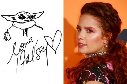 Halsey can draw Baby Yoda way better and faster than you