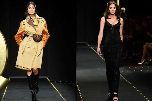Shalom Harlow and Stephanie Seymour return to catwalk at Versace show